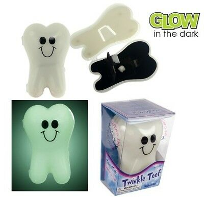 Twinkle Toof Glow In The Dark Tooth Shaped Fairy Case Pillow Keepsake Box Holder