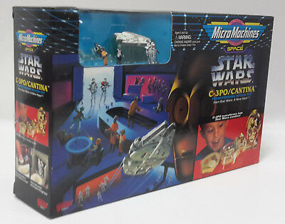1994 Star Wars C-3PO/Cantina  Micro Machines Playset- BOXED- Mint- Case Fresh!