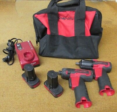 """Snap-on CT761 &CTS761 3/8""""Drive MicroLithium Cordless Impact Wrench& Screwdriver"""