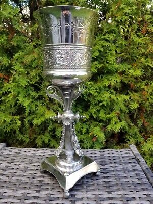 Vtg 1910 Silver Plated Catholic Bowl Ciborium Chalice Simpson Hall Miller & Co