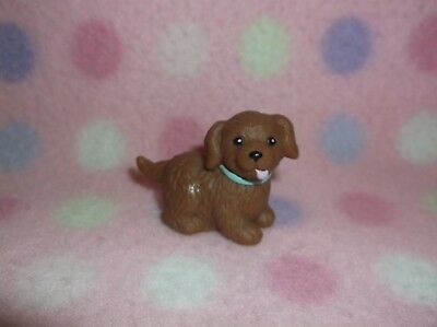 FISHER PRICE LOVING FAMILY DOLLHOUSE FAMILY PET BROWN PUPPY DOG Cute! 3+