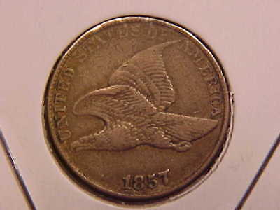 1857 Flying Eagle Cent - Vf+ - See Pics! - (X1268)