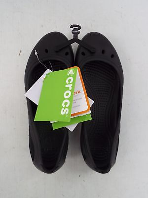Ladies CROCS Kadee Work Flats BLACK Relaxed Fit UK Size 6 - Y99