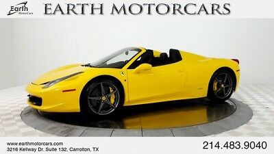 2012 Ferrari 458 Base Convertible 2-Door 2012 FERRARI 458 ITALIA SPIDER, POWER DAYTONAS, LIFT, AFS, CARBON, SPOTLESS