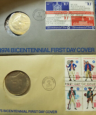 1974 & 1975 American Revolution Bicentennial First Day Covers