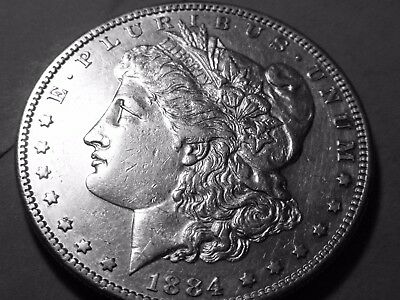 1884-S Morgan Silver Dollar $1 - Excellent Condition - Rare Date this Sharp!