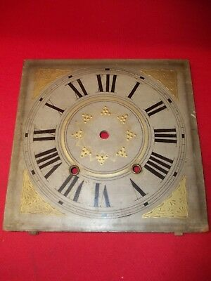 VERY NICE Old Original  Wood Wooden Works Weight Clock Dial !!