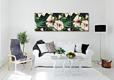 Blooming Flowers Banana Leaves Wall Art Picture Home Decor Canvas Print Painting