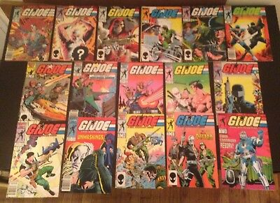 GI JOE A Real American Hero #41-47, 50-58 - 16 Issue Lot - 1982 Marvel Series