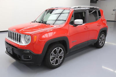 2016 Jeep Renegade Limited Sport Utility 4-Door 2016 JEEP RENEGADE LIMITED HTD LEATHER REAR CAM 39K MI #C90437 Texas Direct Auto