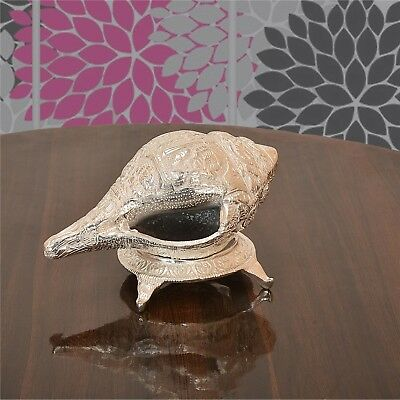 Sanskriti Carved Conch White Metal