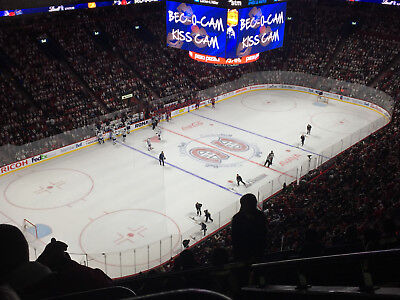 Montreal Canadiens vs Tampa Bay Lightning 2 tickets 324 A grey sect. 01/04/18