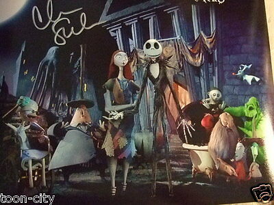 Nightmare Before Christmas hand Signed Chris Sarandon 11x14 NEW Disney COA