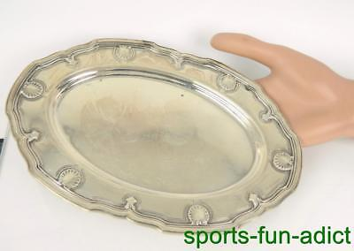 TIFFANY & CO MAKERS Shell & Thread (M) Sterling Silver Serving Dish Tray #13013