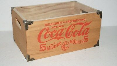 COLLECTIBLE Coca Cola 5 Cents Advertising small Wood Box Crate