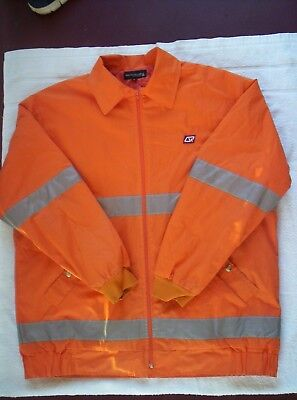 QR   Queensland Rail   Orange HI VIZ  jacket  -  Size XL