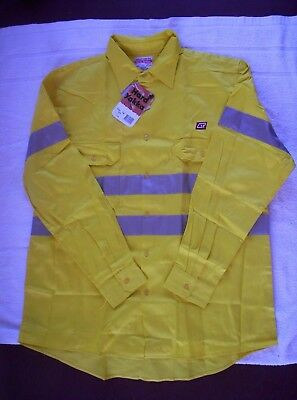 QR  Queensland Rail  Yellow HI VIZ  shirt   - Size XOS Brand New with tag