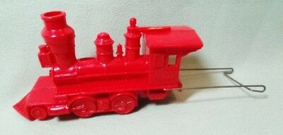 Planters Mr Peanut Elmar Plastic Train Engine with Connector Wire Red 1950's