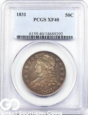 1831 PCGS Capped Bust Half Dollar PCGS XF 40 ** Early Silver Type!