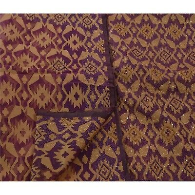 Sanskriti Vintage Saree 100% Pure Organza Silk Hand Beaded Woven