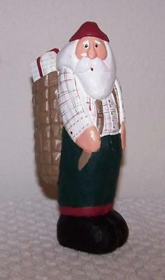 Eddie Walker Santa with Pack on his Back with Gifts Inside - Made in Philippines