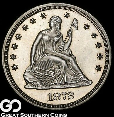 1872 Seated Liberty Quarter PROOF, Outstanding Superb Gem PF++, 950 PR's Minted!