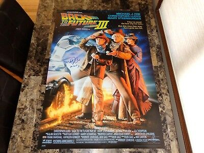 Back To The Future III Rare Signed 27x40 Movie Poster Michael J Fox Marty + COA
