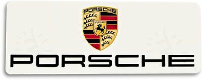 Porsche Logo Retro Tin Metal Sign