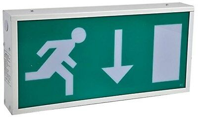 Emergency Exit Sign Non M/Tained DBL LED308DNM By Pro Elec A5CU#