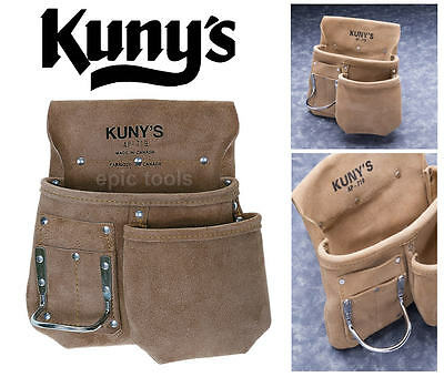 KUNYS AP719 Split Grain Journeyman Carpenters Builders Nail & Hand Tool Pouch