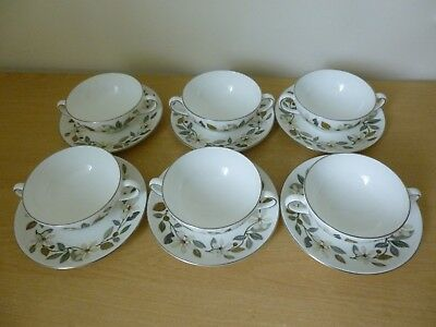 6 Wedgwood Beaconsfield Soup Coups or Bowls & Saucers Vintage - 2 Sets Available