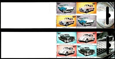 Iceland 2 X Cars Complete Booklets (32) Mint Never Hinged