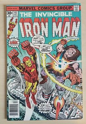 The Invincible Iron Man #93 VF+ Bronze Age Comic Uncurculated