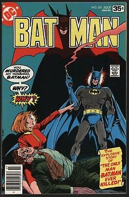 Batman #301 Tight Glossy Near Mint 9.4  Investment Grade Copy With White Pages