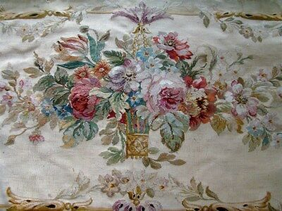 One  Aubusson  tapestry antique French 18TH-CENT  chateau for sofa or pillows.