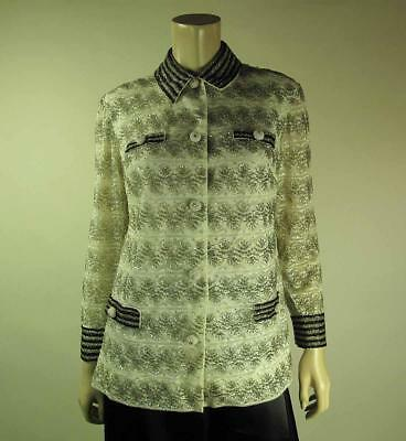 Glamorous 1960's Vintage Beaded Sequined And Belted Evening Top / Jacket