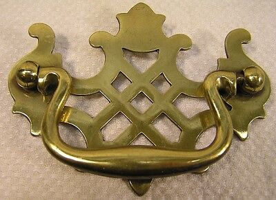 "8 Vintage Style Brass Handles Knobs Pulls 3"" Furniture Cabinet Hardware '"