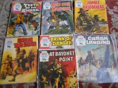7 X Vintage War Picture Library Comics Commando Type Nos RangingFrom 1093-1456