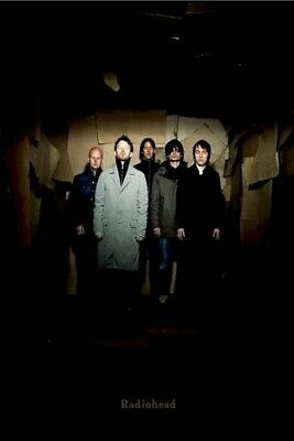 RADIOHEAD ~ GROUP IN SHADOWS ~ 24x36 MUSIC POSTER ~ NEW/ROLLED! Thom Yorke