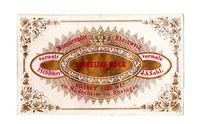 1860s DILTHEY SAHL & CO, RUDESHEIM AM RHEINGAU GERMANY SPARKLING HOCK WINE LABEL