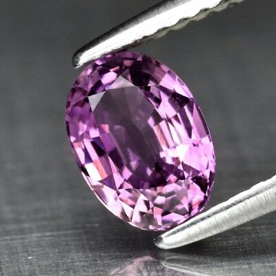 1.08ct 7x5mm Clean Oval Natural Unheated Untreated Pinkish Purple Sapphire