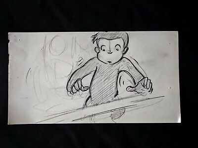Curious George (2006 Film) Production Hand Drawn Animation Storyboard Page #50