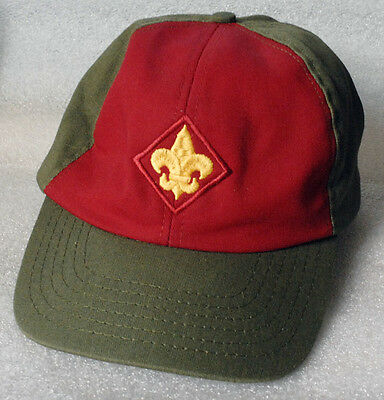 BOY SCOUTS hat cap red and green adjustable size M/L
