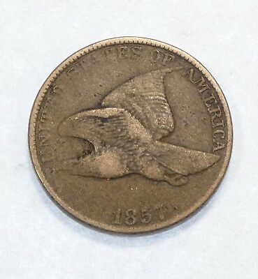 BARGAIN 1857 Flying Eagle Cent FINE Small 1c