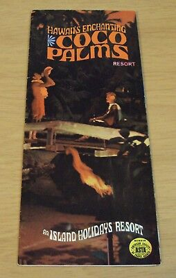 "VTG 1960's Hawaii TRAVEL Brochure~""COCO PALMS RESORT"" Kauai~"