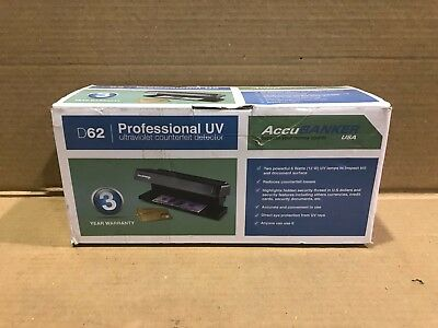 AccuBANKER D62 Counterfeit Money Detector (UV), Bank Ultraviolet Light Detector