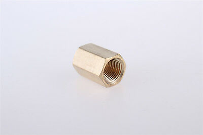 1/4BSP Female Thread Brass Straight Nut Hex Rod Couplings Coupler 2pcs