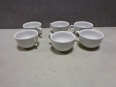 Rattleware Coffee House Collection 8 ounce cup, Set of 6, White - AS IS-1 BROKEN