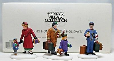 """Department 56 """"Going Home For The Holidays"""" Heritage Village Collection 58896"""