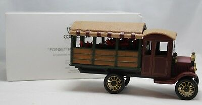 """Department 56 """"Poinsettia Delivery Truck"""" Heritage Village Collection 59000"""